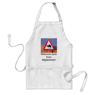 Welcome back from Iraq Adult Apron