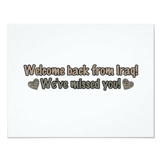 Welcome Back from Iraq 4.25x5.5 Paper Invitation Card