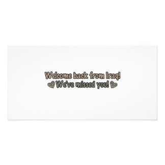 Welcome Back from Iraq Photo Greeting Card