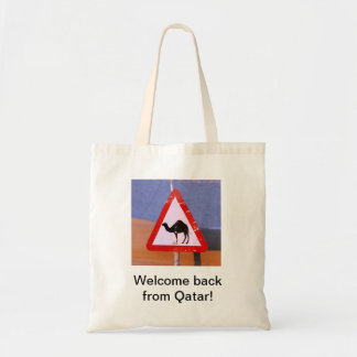 Welcome back from Qatar Tote Bag