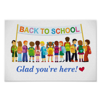 Welcome Back Glad You re Here School Poster