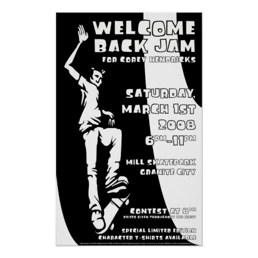 Welcome back jam-quarterpage posters