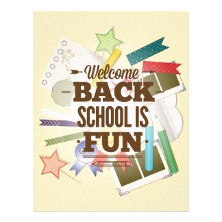 Welcome Back School Is Fun Flyer