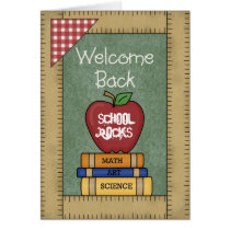 Welcome Back School Rocks Greeting Card