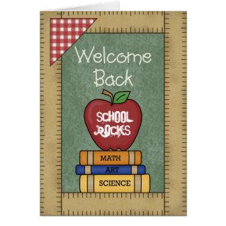 Welcome Back School Rocks Greeting Card