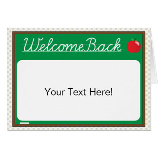 Welcome Back {student card} Card