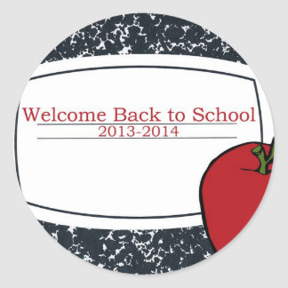 Welcome Back to School 2013 Classic Round Sticker