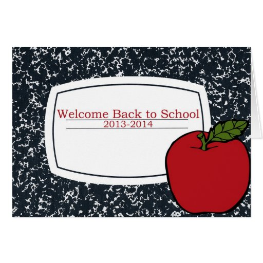 Welcome Back to School 2013 Greeting Cards
