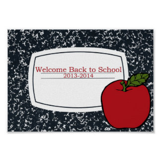 Welcome Back to School 2013 Poster