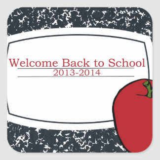 Welcome Back to School 2013 Square Sticker
