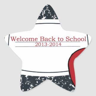 Welcome Back to School 2013 Star Sticker
