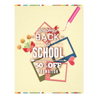 Welcome Back To School 50% Off Promotion Full Color Flyer