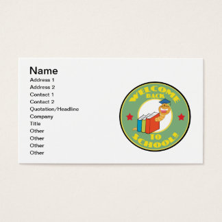Welcome Back To School Business Card
