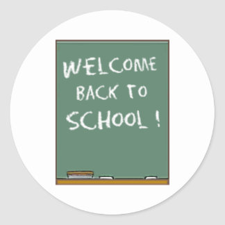 """Welcome Back to School!"" Classic Round Sticker"