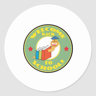 Welcome Back To School Classic Round Sticker