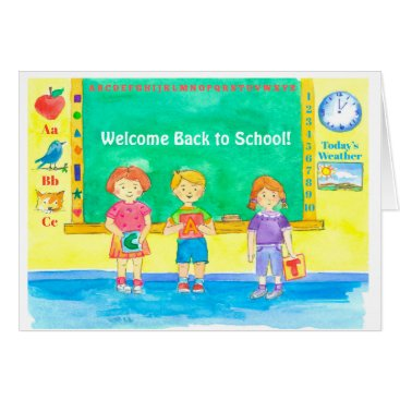 Beach Themed Welcome Back To School Classroom Kids Card