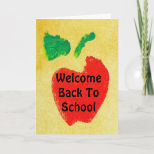 Welcome back cards zazzle welcome back to school greeting card m4hsunfo
