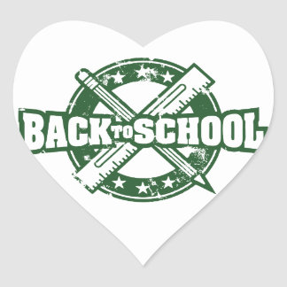 Welcome Back To School Heart Sticker