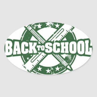 Welcome Back To School Oval Sticker