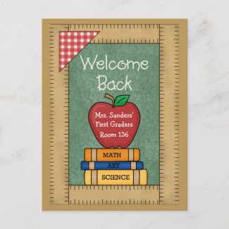 Welcome Back to School Postcard postcard