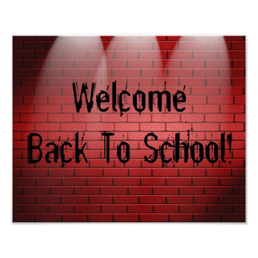 welcome back to school  poster print sign