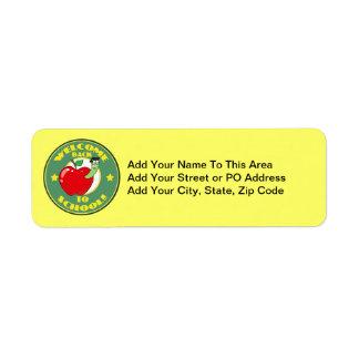Welcome Back to School Return Address Label