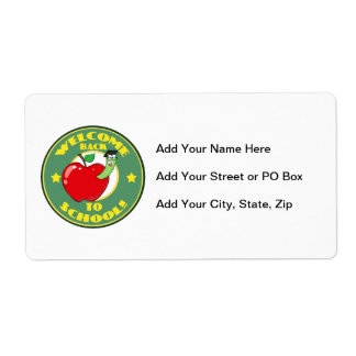 Welcome Back to School Shipping Label
