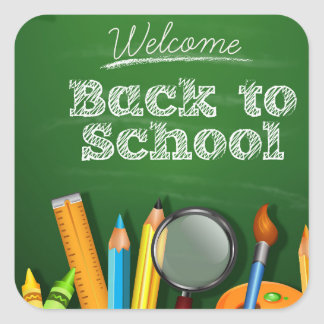 Welcome Back To School Square Sticker