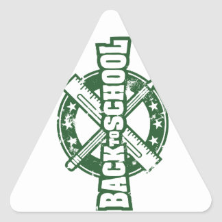 Welcome Back To School Triangle Sticker