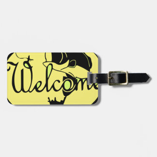 Welcome Bass Luggage Tag