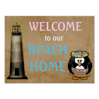 Welcome Beach Home - art print