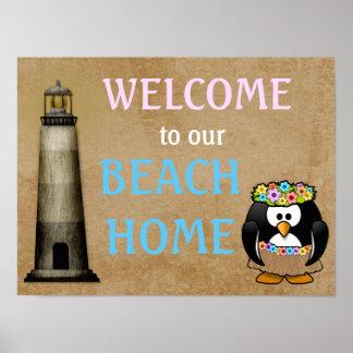 Welcome Beach Home - art print