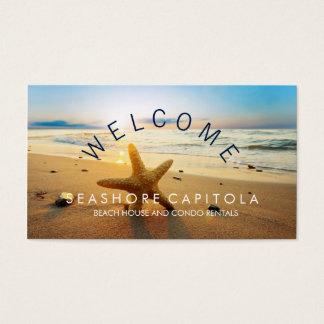 WELCOME! Beach Sunset Beach House Rentals Business Card