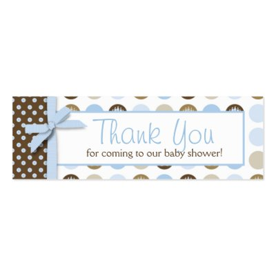 Welcome Bear  Boy TY Skinny Gift Tag Business Card Templates