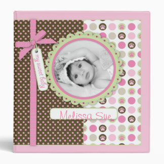 Welcome Bear Girl 1.5 in. Photo Album 3 Ring Binders