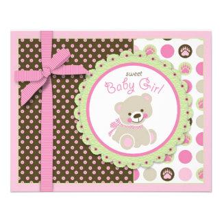 Welcome Bear Girl Advice Card Full Color Flyer