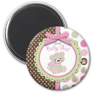 Welcome Bear Girl Magnet 2