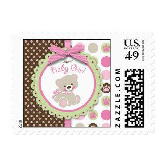 Welcome Bear Girl Stamp B