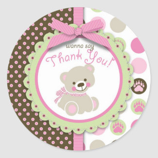 Welcome Bear Girl TY Sticker