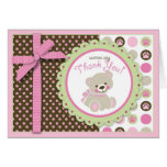 Welcome Bear Girl TYCard Card