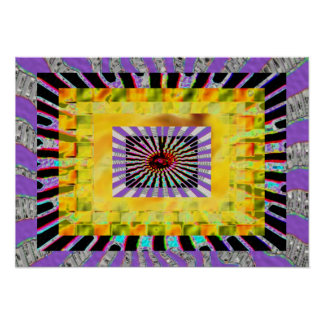 Welcome Bienvenue Seven-in-one Chakra Poster