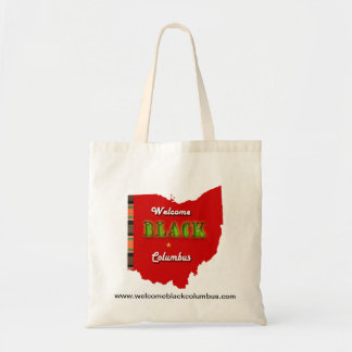 Welcome Black Columbus Tote