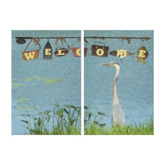 Welcome Blue Heron