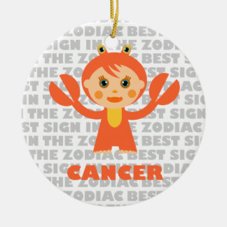 Welcome Cancer Zodiac Baby! Double-Sided Ceramic Round Christmas Ornament