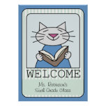 Welcome Cat Reading Posters