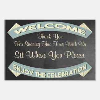 Welcome Celebration Event Sign