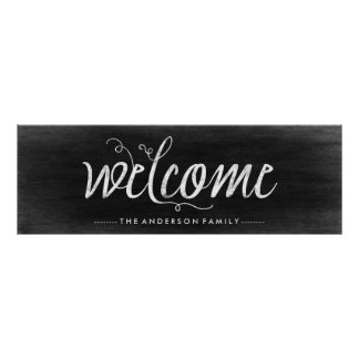 Welcome Chalkboard Look with Trendy Typography Poster