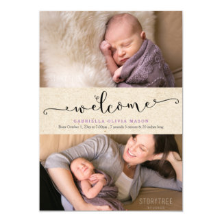 Welcome Collage Card
