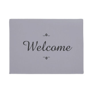 """Welcome"" Colors this season ""Lilac Gray"" Doormat"
