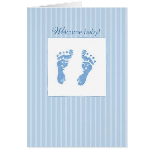 Welcome, Congratulations Baby Boy Greeting Card | Zazzle